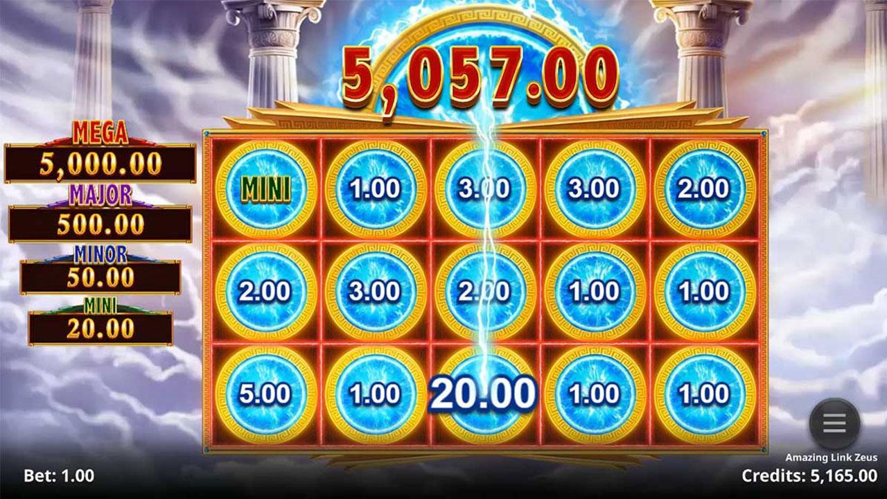 Play Amazing Link: Zeus and  WIN $100
