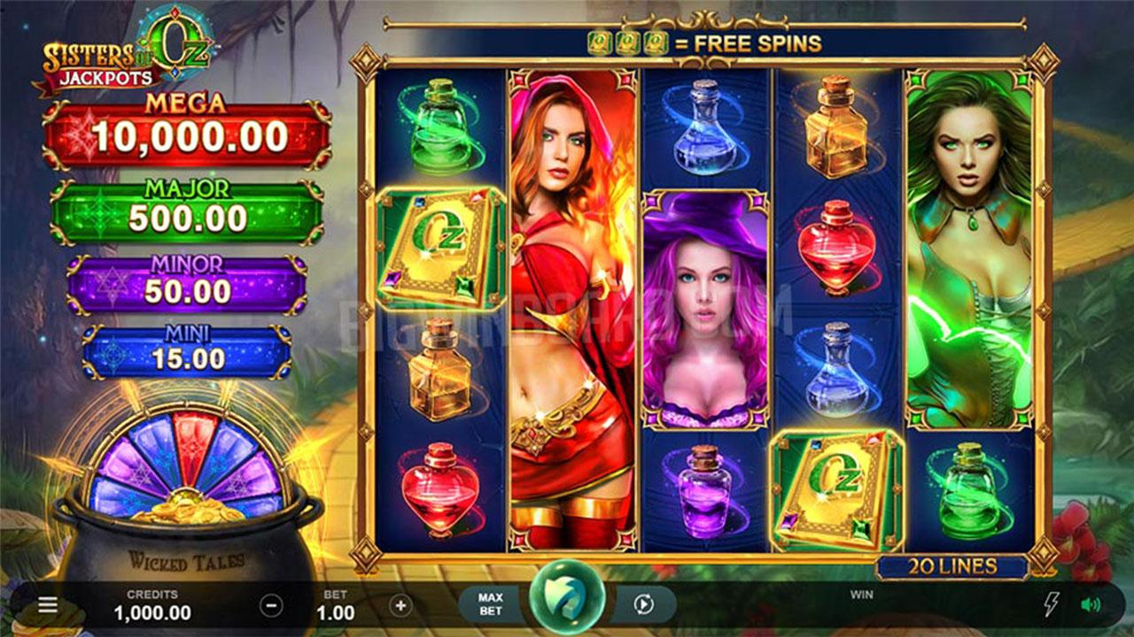 Play Sisters of Oz Jackpots and Win $100