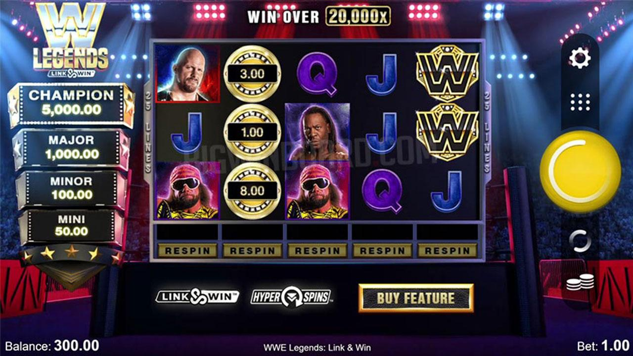 Play WWE Legends Link and Win to WIN $100